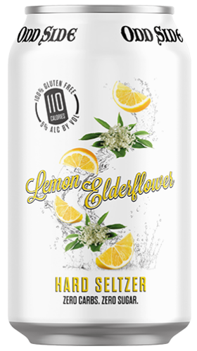 lemon elderflower hard seltzer can